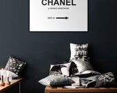 art print, poster CHANEL avenue montaigne, Prada marfa style , decor & housewares , wall decor