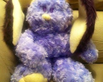 Handmade Bunny Plush Toy, Lavender Blond, Fur Chenille Bunny Stuffed Animal