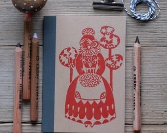 Anouska Festive Handprinted notebook