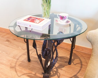 Iron Coffee Table with flowers - unique like no other