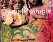 SOFORTIGER digitaler Download schönen viktorianischen kleine Mädchen Engel druckbare digitale Collage Blatt Journaling Seite Shabby Chic Rosa Zubehör