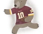 Football Bear - Print
