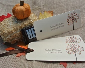 Fall  Wedding - Orange Wedding Favors - Fall Candy Bar Wrappers  Wedding Favors -  Rehearsal Dinner Favors - Fall Favors - Wedding Fall Tree