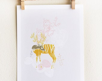 Growing Horns Print