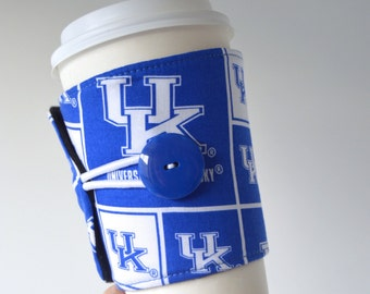 Kentucky Cup Cozy for Starbucks & Panera cups - Adjustable/Handcrafted/Eco Friendly/ READY TO SHIP