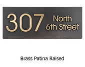 Modern Advantage Street Sign Home Address Numbers - 3 House Numbers 24x8 inches Custom for you by Atlas Signs and Plaques