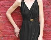 Severine Black Velvet Dress