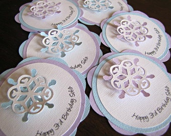 Frozen Party Favor Tags, Frozen Gift Tags, Frozen Party, Frozen Tags, Frozen Birthday, Winter Wonderland, Snowflake Gift Tags, Set of 12