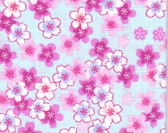 Cherry Blossom Material - 100% Cotton - 30cm x 50cm (11.8 x 19.7 inches) - Reference 10-11