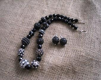 Black Jewelry Set - Jesse James Necklace - Free U.S. Shipping - Black Jewelry - Jewelry Set - Black Necklace - Gift Idea