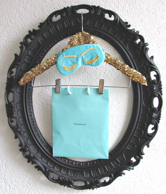 SEQUIN CLIP HANGER deluxe. adult size. art gallery hanger. gold. sparkle. glitter. 2 clip. wedding hanger. original hanger