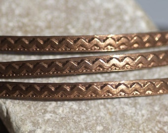 Wire Zig Zag Pattern Stock Shank 3.6mm Textured Metal Wire - Rings Bracelets Pendants Metalwork Variety Metals