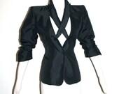 CLAUDE MONTANA Vintage Cutout Blazer Jacket - AUTHENTIC -