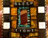 Mosaic Tile Light Switch Cover Sleep Tight a custom Mosaic Tile Art Piece for Home Decor