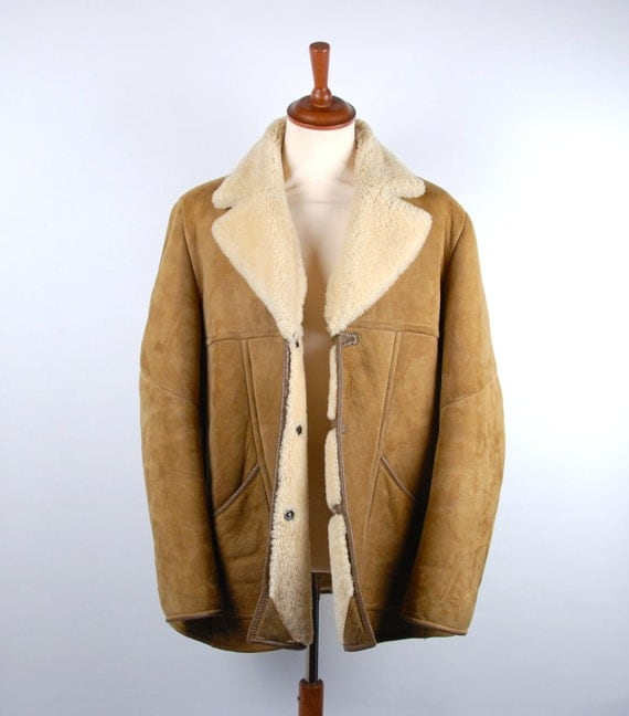 Knight's Tailors Limited Shearling Sheepskin Coat Made in