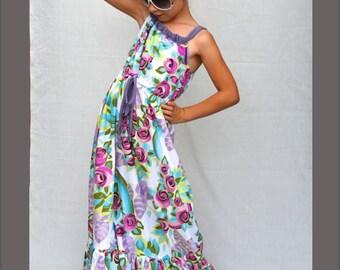Girls Dress Pattern,  Maxi Dress Pattern, Toddler Dress Pattern, Childrens Sewing Patterns, Pillow Case Dress, 12 months through 8 youth