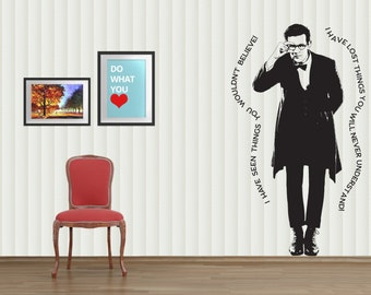 Dr. Who Inspired Wall Graphic