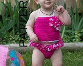 Baby Ruffle Swim Suit Crochet Pattern - PDF