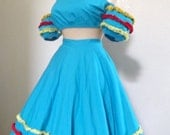 Vintage Carmen Miranda Calypso / Flamenco Dancer Costume - Extra Small