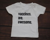Vaccines are awesome tshirt vaccination awareness tell them how you really feel - TODDLER