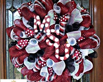 Deco Mesh Mississippi State University Wreath, deco mesh wreath, football wreath, wreath