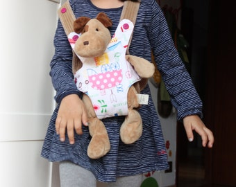 Doll carrier or stuffed animal carrier for kids. American Girl doll sling. Kids' christmas stockings. Ready to ship.