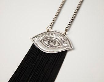 Omma statement fringe necklace
