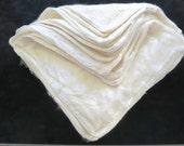1, 2 or 4oz Undyed Silk Hankies, Ecru Silk Hankies, Silk Hankies for Felting, Silk Hankies for Nuno Felting, Spinning, knit or crochet silk