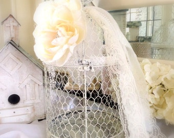 SALE Wedding Bird Cage Card Holder Wedding Card Holder Advice Card Box Wedding Accessory