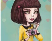 Go Capture What You Love - Limited Edition Fine Art Print - 6.5'' x 6.5'' - Inspired by Lomo Photography, Vintage Cameras and Artists
