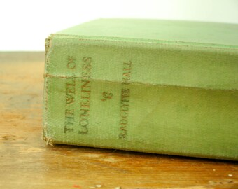1929 Lesbian Book The Well of Loneliness by RADCLYFFE HALL Vintage Banned Book 7th Printing Covici Friede Publishers New York