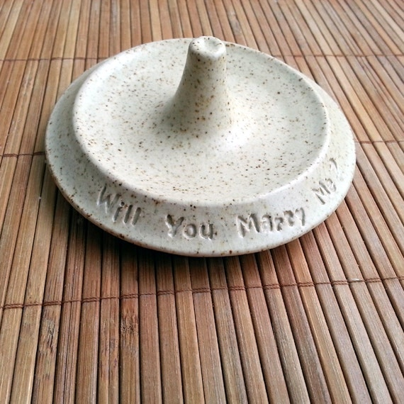 i love you will you marry me ceramic ring holder by yoresh