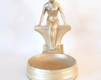 1930s Art Nuveau NuArt Creations Nude Lady Ash Tray Trinket Holder - Vintage from TreasuresOfGrace
