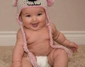 Crochet Baby Hat, Newborn Crochet Hat, Crochet Dog Hat, Baby Accessories, Baby Girl Hat