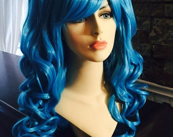 Capri // Blue Full Synthetic Wig with 2 Pigtails