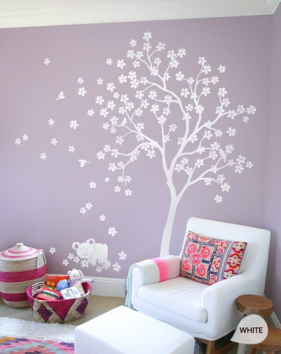 wei baum wand aufkleber kinderzimmer decal kinder zimmer wand. Black Bedroom Furniture Sets. Home Design Ideas