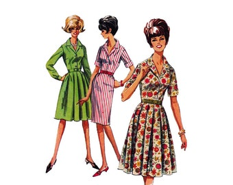 """1960s Simplicity 5877 Woman  Dress a """"How-To-Sew"""" Pattern Size 18 