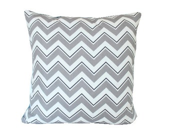 DuraLee Grey Chevrama Chevron Pillow Cover