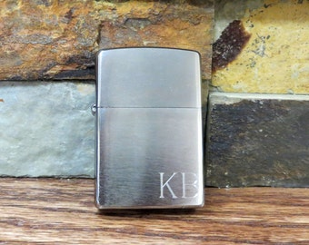 Personalized Zippo Lighter - Brushed Chrome - Groomsmen Gift - Gifts for Men (495)