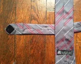 vintage lanvin silk tie