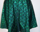 Mermaid Skater Skirt, Mermaid Skirt, Mermaid Scale Skirt