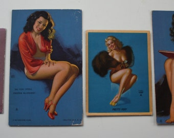 1940s Earl Moran Pin-Up Cards