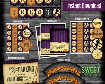 DIGITAL Wicked Halloween Party Package Set : Instant Download