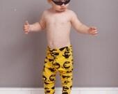 Baby boys leggings, organic cotton baby leggings, baby boys clothes, organic baby clothing, last piece, ready to ship