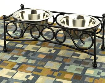 Dog Placemat, Medium 19x25, Waterproof, Dog Food Mat, Pet Placemat, Pet Food Mat, No Mess Mat, Non Slip Mat, Baby Splat Mat, Blue Squares