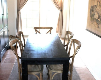 rustic dining table parsons table
