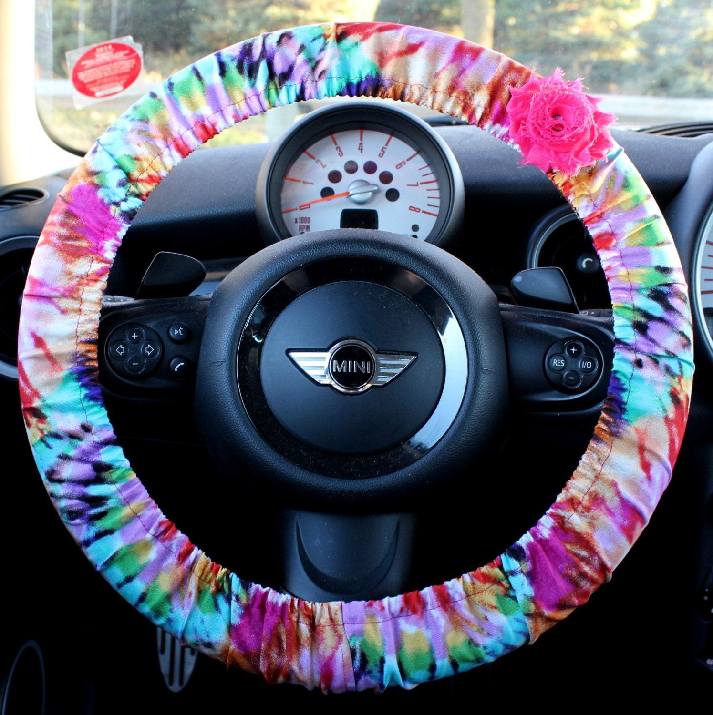 Tye Dye Steering Wheel Cover Car Accessories For Her W Shabby