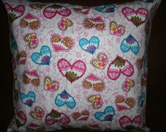 Free Shipping! Decorative, Sofa Pillow Covers, Hearts, Valentine Pillow Covers, Toss Pillow Covers, Accent Pillow Covers, Decor, Set of 2,