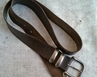 Vintage leather belt Retro real leather belts Old leather strap baldric Leather sword belt Travel hunting adventures Repurpose reclaim Reuse