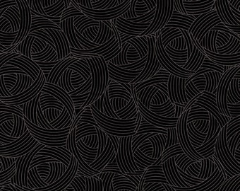 Black Fabric - Lola Texture for Quilting Treasures  - 22926 J - Onyx Black - Priced by the 1/2 yard